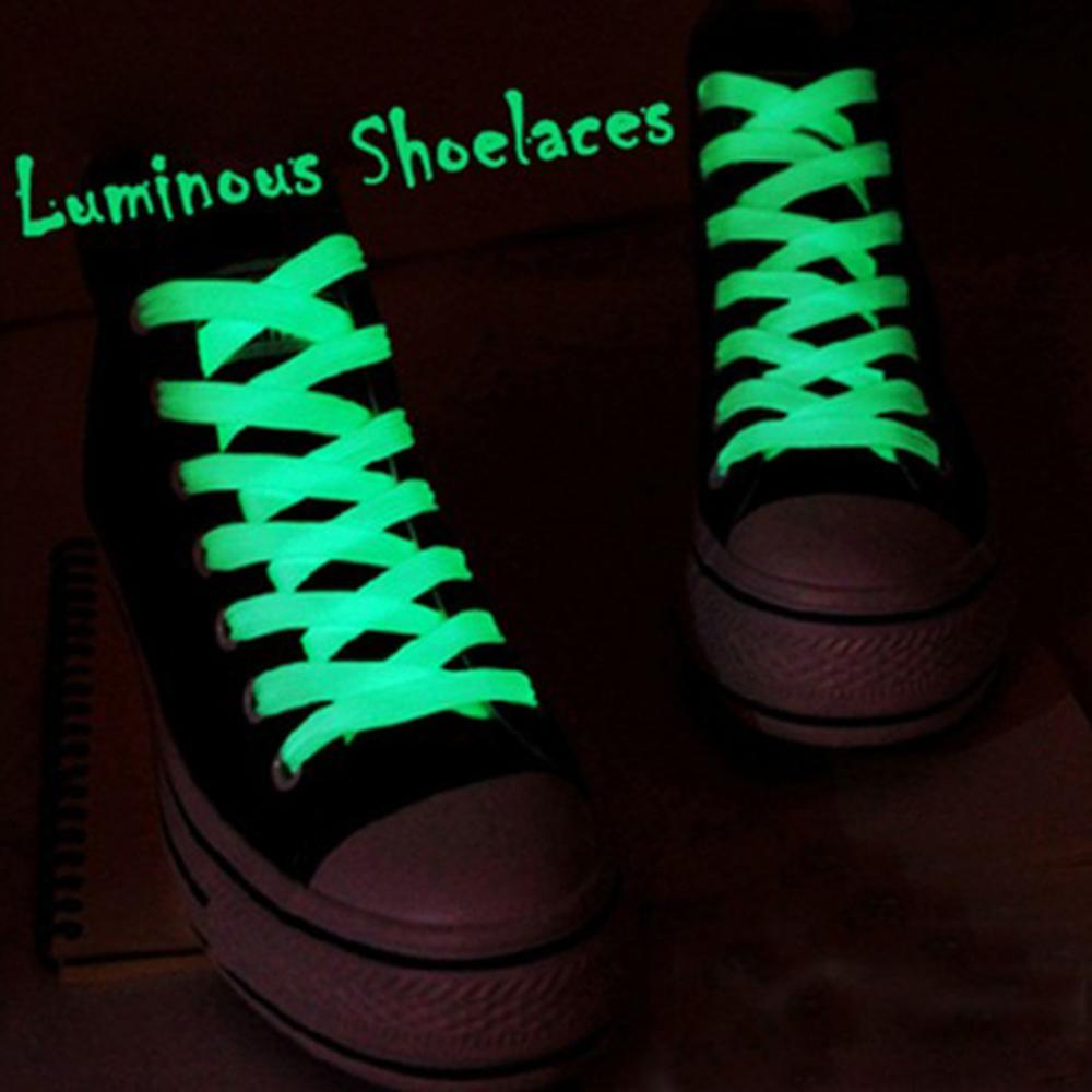 1 Pair Luminous Shoelace Men Women Shoe Laces Glowing Led Fluorescent Shoeslace for Sneakers Canvas Shoes Laces Strings 3