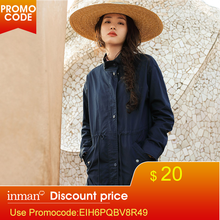 INMAN Spring Clothes Cotton Stand Collar Leisure, Trench Coat Coats For Women Wo