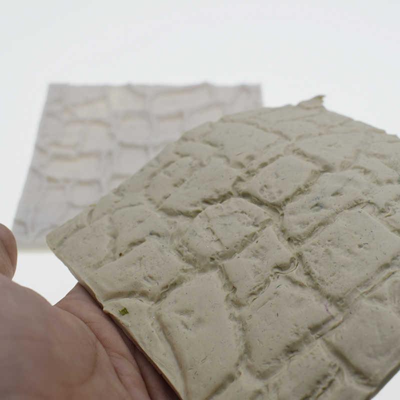 10X10 Cm Retro MỤC VỤ Pebble Tường Khuôn Silicon Thiết Kế Tự Làm Gạch Khuôn Đúc Bê Tông Moule Silicone 3D Dán Tường Bảng Điều Khiển stampi/Gesso