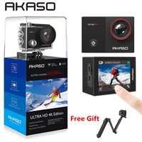 AKASO Go EK7000 Pro 4K caméra d'action avec écran tactile EIS Angle de vue réglable 40m caméra de plongée télécommande caméra de sport