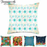 Fuwatacchi Winter Style Cushion Covers Throw Pillow Covers for Home Chair Sofa Decoration Polyester Pillowcases 45cmX45cm