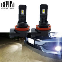 цена на 2x Car LED Fog Light Bulbs H11 H8 H9 LED Fog Lamp 100W 3000LM 6000K Auto Driving Fog Lights CSP Led Chip DC 12V 24V