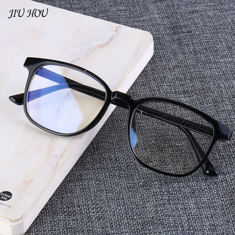 Flat Mirror Male No Number Of Men's Big Box Big Face Anti-blue Glasses Female With Radiation Eyes Female Retro Blue Light