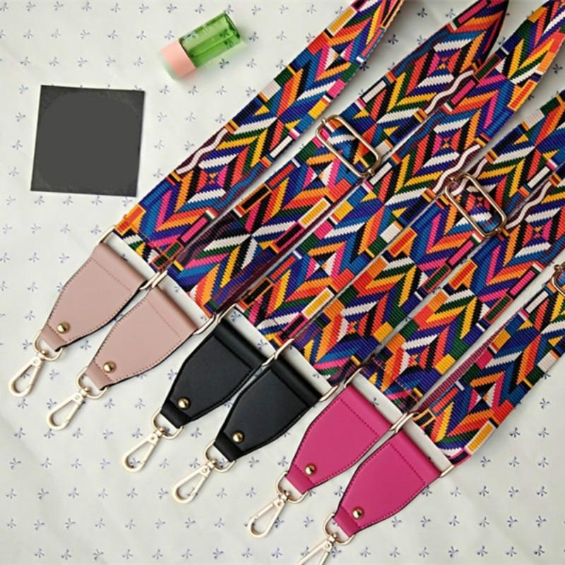 Fashion Luxury Ethnic Style Wide Shoulder Bag Accessories Crossbody Bag Adjustable Bag Strap Anti-gravity Long Shoulder Strap