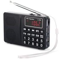 L 258 receptor de Radio FM AM SW soporte de Radio Digital portátil u disk/tarjeta TF/AUX MP3 reproducción de bajos Radio Estéreo carga USB Radio     -