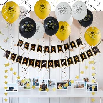 Graduation Photo Booth Props 2020 Party Decorations Congrats Grad Banner Balloons Class Of