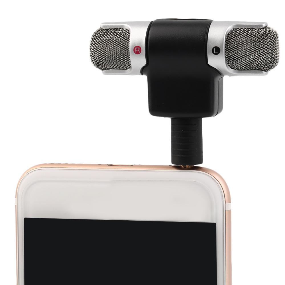 Portable Mini Mic Digital Stereo Microphone For Recorder  Mobile Phone New Arrival For Iphone