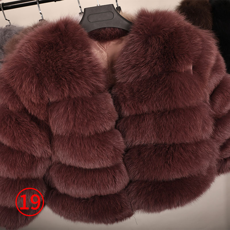 maomaokong 50CM Natural Real Fox Fur CoatWomen Winter natural fur Vest Jacket Fashion silm Outwear Real Fox Fur Vest Coat Fox 33
