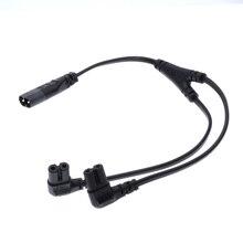 Кабель питания переменного тока IEC320 C8-2X C7 Y, IEC цифра 8 штекер-2 гнезда, 1 в 2 Out, кабель питания переменного тока, длина = 39 см, черный