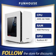 Desktop Computer Gaming Pc 7680 Athlon Amd A8 SSD Cheap 8G 120G Host Office DIY Home