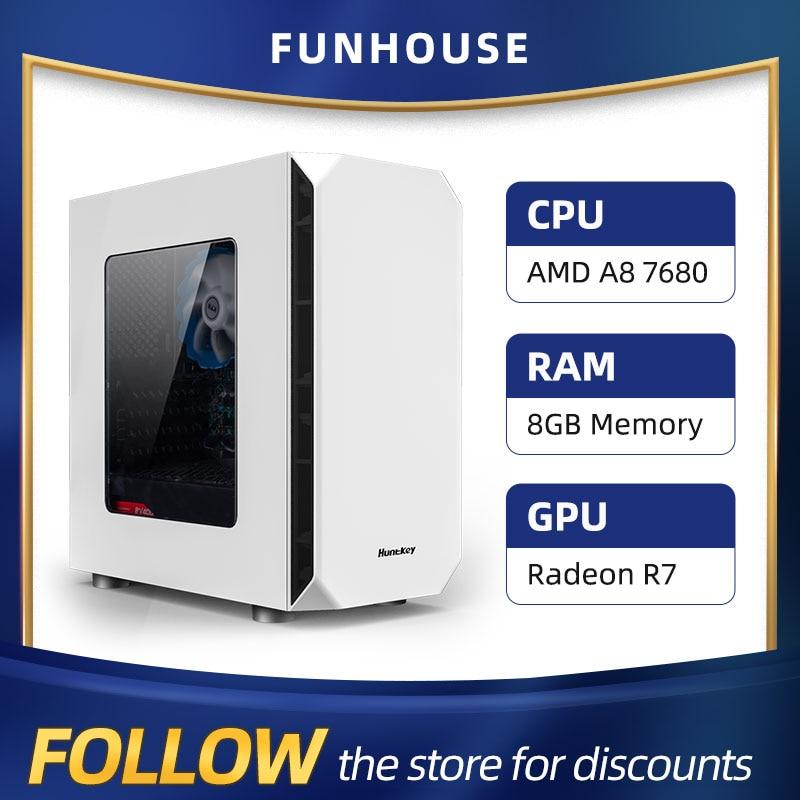 Athlon AMD A8 7680 8G RAM 120G SSD домашний офисный компьютер в сборе компьютер в Комплекте DIY настольный компьютер хост DIY дешевый игровой ПК
