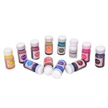 12 цветов igh концентрация УФ смолы жидкий окрашивающий краситель пигмент эпоксидная смола для DIY аксессуар для изготовления ювелирных изделий ручной работы ремесло поставки