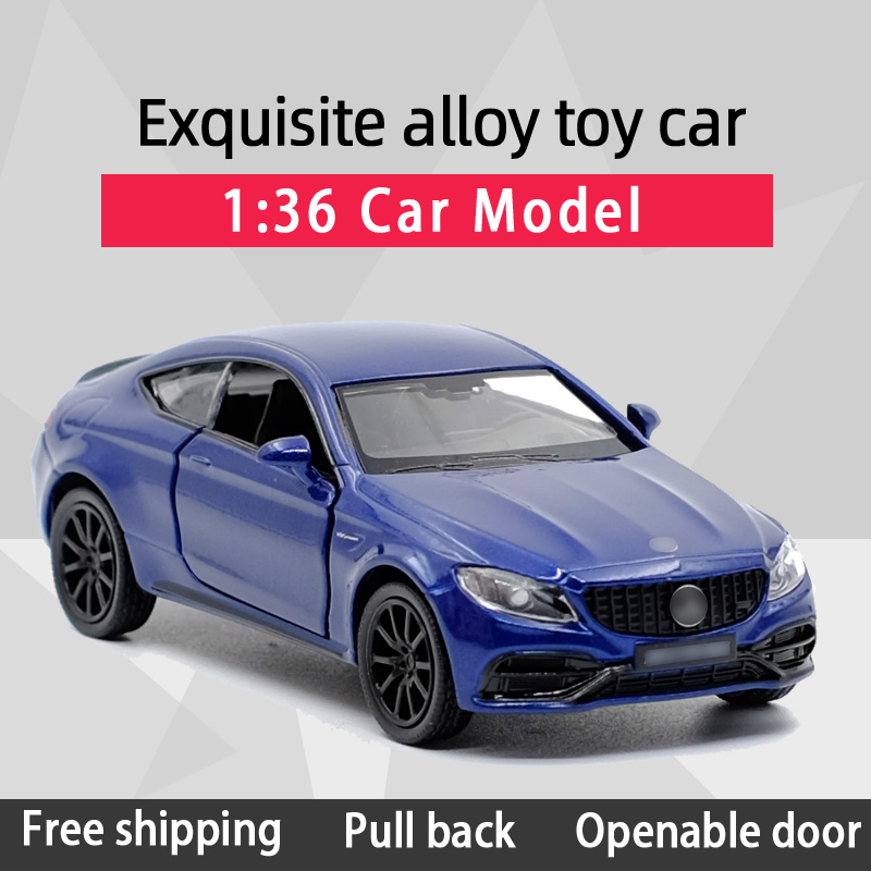 New Arrival RMZ CITY 1:36 C63S/GTS Sports Car Alloy Diecast Car Model Toy With Pull Back For Children Gifts Toy Collection