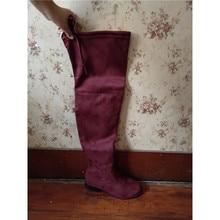 long shoes platform women winter Beautiful Woman High Overknee boots
