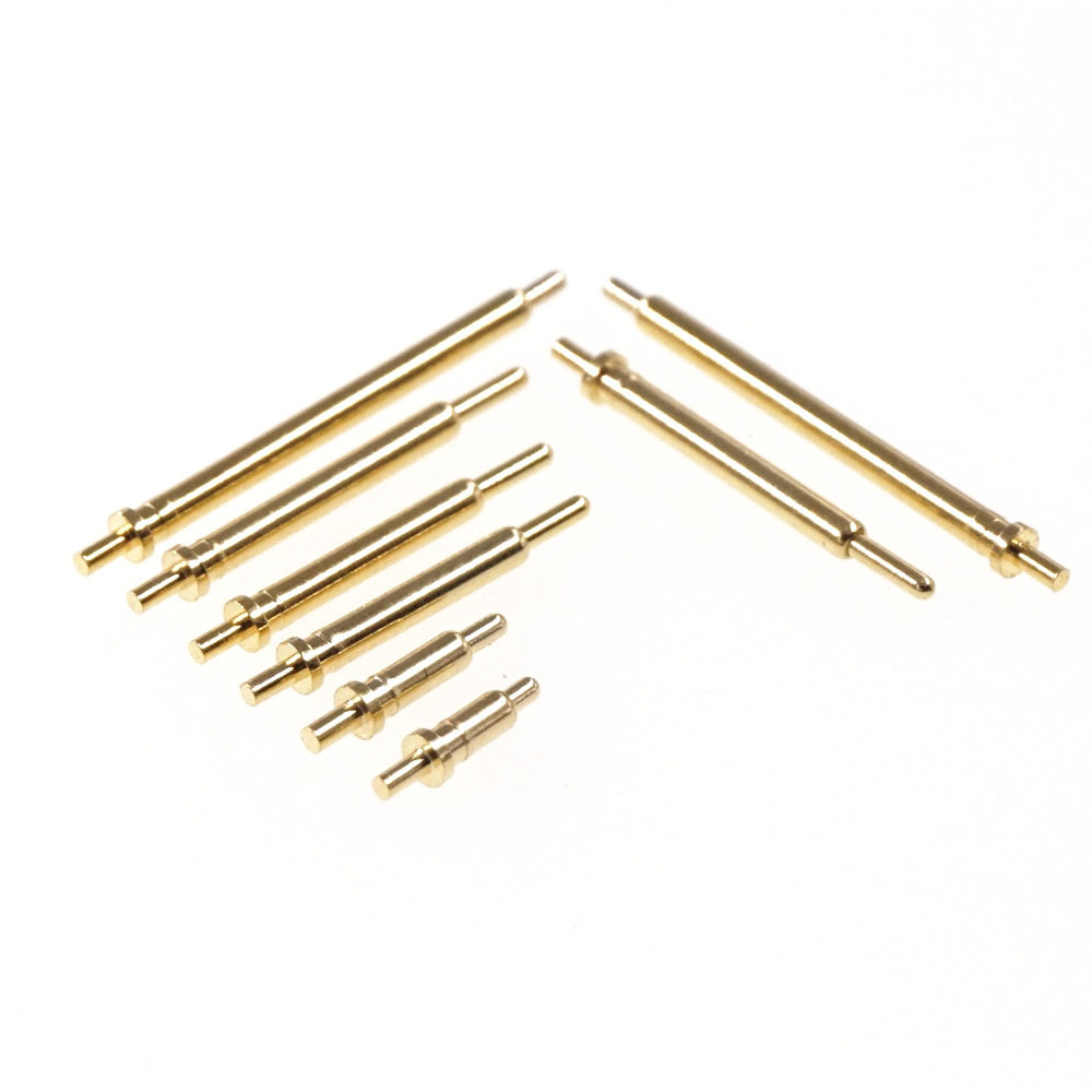 10pcs Spring Loaded Pogo Pin Connector Through Holes PCB Height 3 4 5 6 7 8 9 10 11 12 13 14 15 16 18 20.5 Mm Flange Single 1A