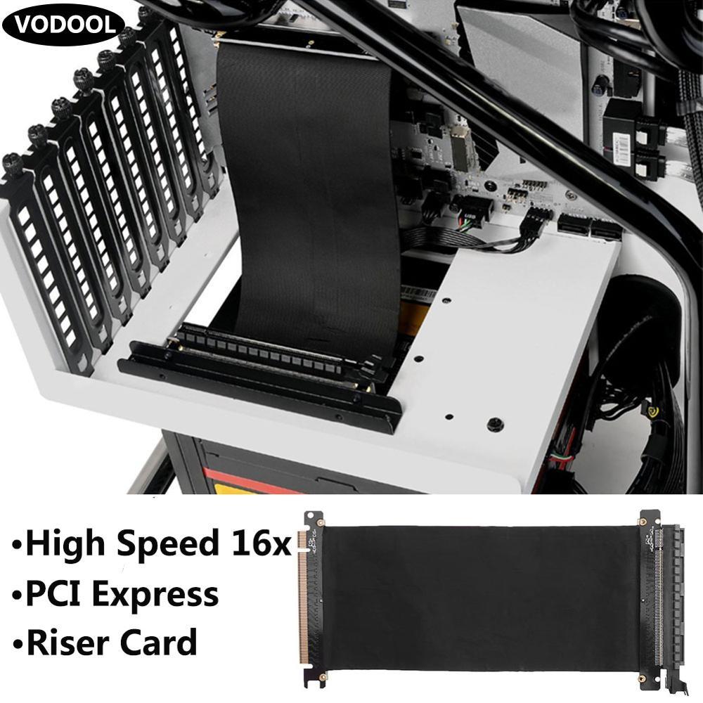 gomito 15 cm Siwetg PCI Express PCI-e3.0 16x cavo flessibile di prolunga scheda adattatore ad alta velocit/à schede schede grafiche cavo connettore cavo L Pcie 16X a 16X cavo flessibile