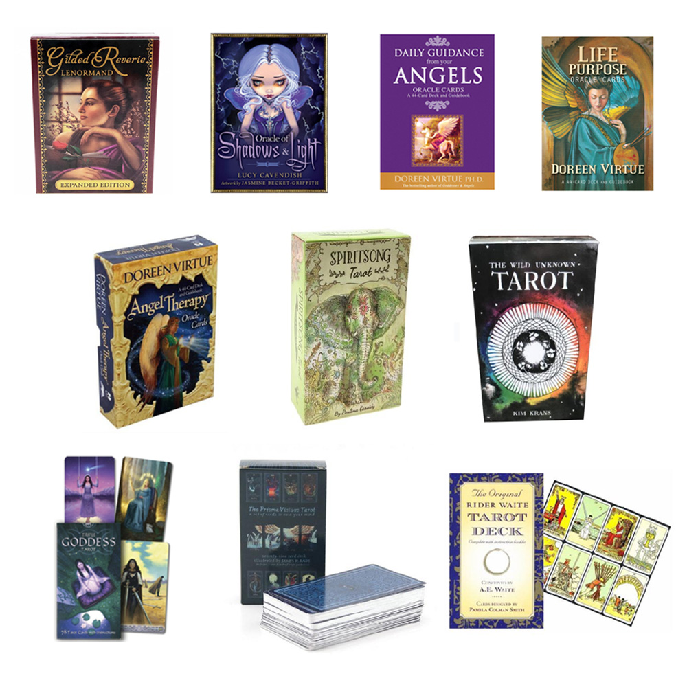 Tarot Cards Read Fate Lenormand Oracle Cards Table Deck Board Game For Divination Fate Playing Card Games English Entertainment