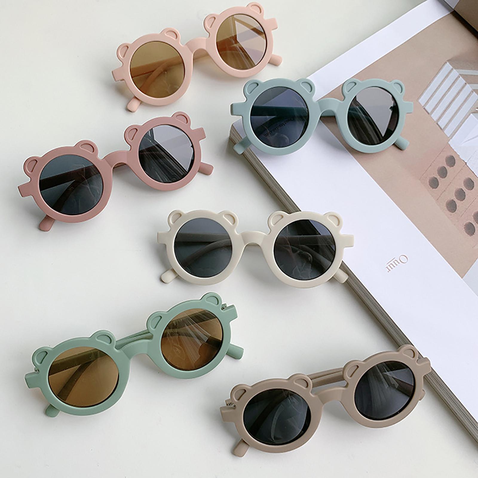 2021 Lovely Children Sunglasses Summer UV Protection Round Frame Sunglasses for Boys and Girls