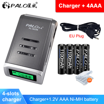 PALO Rechargeable Batteries 1.2V AAA 1100mAh Ni-MH Pre-charged Battery 3A Bateria With A Box For Camera Toy Toothbrush voxlink aaa battery 1 2v 1100mah 8pcs rechargeable battery pre charged recharge ni mh rechargeable battery for camera microphone