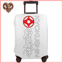 Kyokushin Karate Heart Martial Arts 2020 new funny diy design travel accessories Protector Luggage Cover tag cute luggage(China)