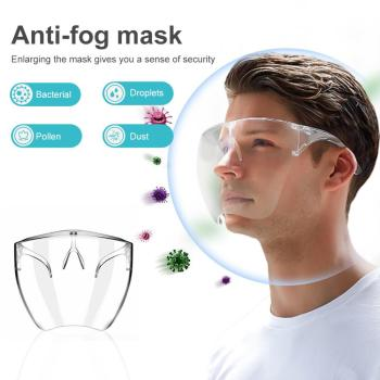 Outdoor Safety Transparent Face Shield Goggles Dust-Proof Cycling Sun Visor Bicycle Bike Face Mask Cover US FR ES fast shiping
