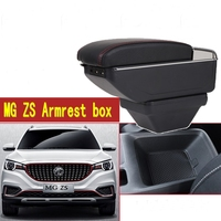 For MG ZS armrest box central Store content box with cup holder ashtray USB ZS armrests box