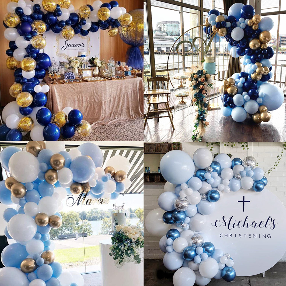 Blue Balloon Garland Arch Kit Navy Blue Gold Balloons Baby shower Wedding Birthday party Kids Adult Decorations Supplies