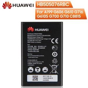 Image 1 - Original de reemplazo de batería del teléfono para Huawei A199 G606 G610 G610S G700 G710 G716 C8815 Y600D U00 Y610 Y3ii HB505076RBC 2100mAh