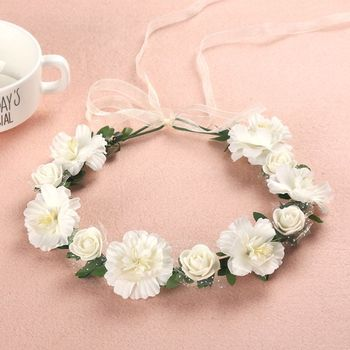 6 цветов, для взрослых и детей, необычная искусственная Роза, повязка на голову с цветами, для девочек, свадебная, градиентная, цветная, венок,...