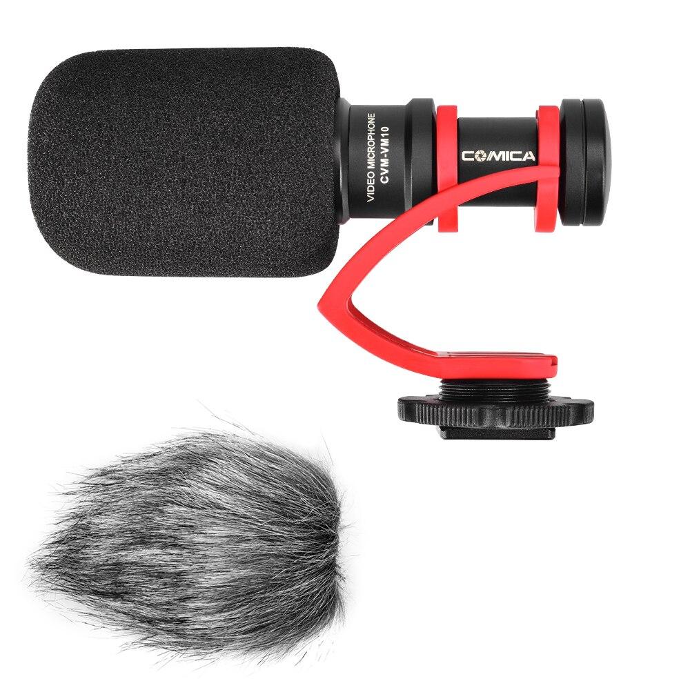 Comica CVM-VM10II micro d'enregistrement vidéo sur appareil photo/téléphone Microphone pour Canon Nikon Sony DSLR caméscope pour iPhone Samsung S9 S10