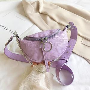 New Fashion Handbags Skillful Manufacture Women Leather Fanny Waist Pack Serpentine Shoulder Crossbody Bags Money Pouch