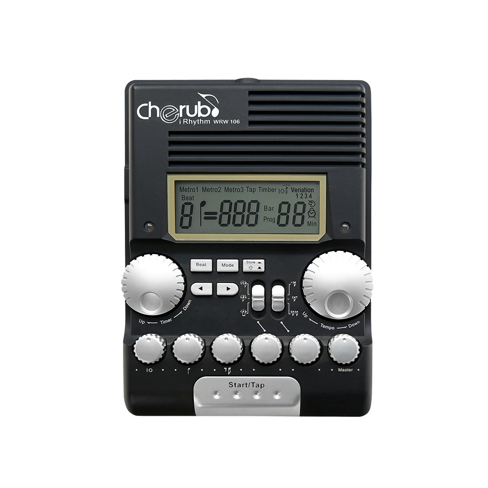 Cherub WRW-106 Rhythm Trainer Drum Metronome Professional Multi Function Digital Electronic Drum Drummer Metronome Percussion image