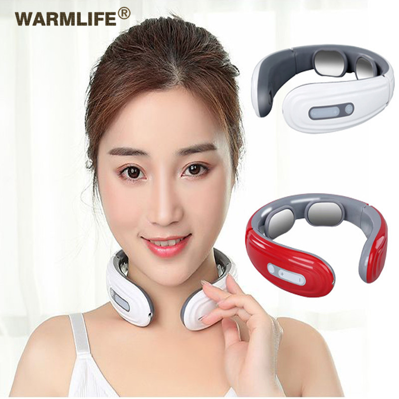 Intelligent  Back And Neck Massager Electric Pulse Far Infrared Heating Pain Relief Tool Health Care Relaxation Cervical Massage