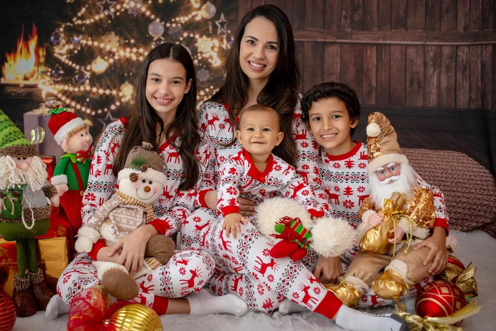 2019 New Family Christmas Pajamas Family Matching Clothes Matching Mother Daughter Clothes Father Son New Year Family Look