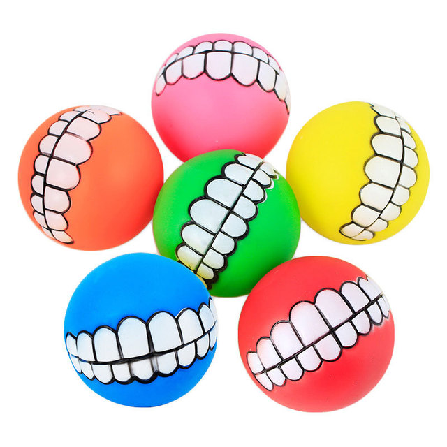 1pcs Diameter 6cm Squeaky Pet Dog Ball Toys, Rubber Chew Puppy Toy Dog  3