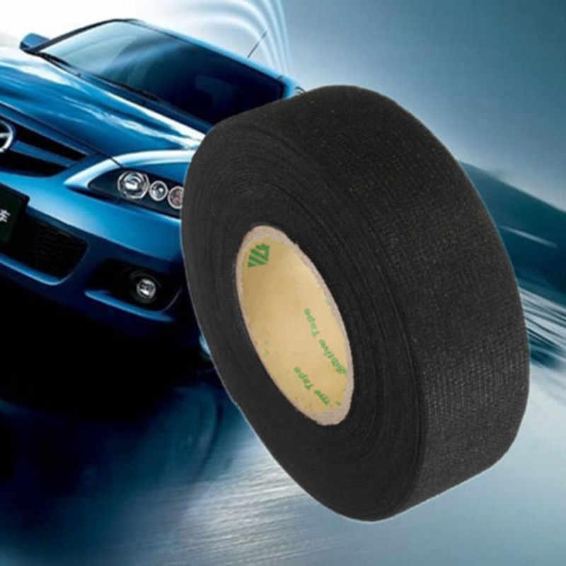 3Pcs Mobil Harness TAPE Mobil Kendaraan Wiring Harness Kebisingan Isolasi Suara Bulu Tape Hitam Panas Perekat Kain Kain 15 M