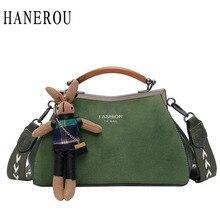 Designer Retro Womens Bags Handbag Lady Classical Nubuck Leather Crossbody For Women Cute Doll Pendant Scrub Messenger Bag