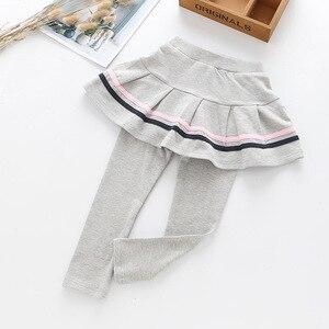 Image 3 - 3 4 5 6 7 שנים בנות מכנסיים אביב סתיו קוריאני חצאית חותלות מזויף שני חתיכות מכנסי חצאית הגעה חדשה לפעוטות תינוק מכנסיים חדש