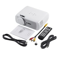 White & Black LED Projector Wifi 1200 Lumens 800*480 Resolution Home Cinema BL 80 Support PC Laptop USB TV Box iPad Smartphone|Controle remoto inteligente| |  -