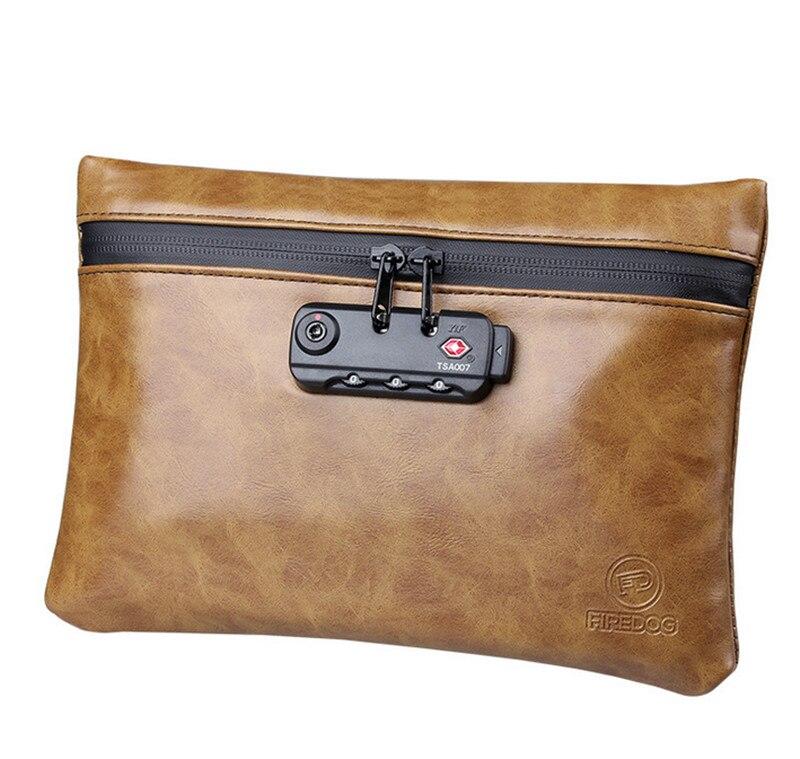 Women Men Multifunction Organizer Wallets Activated Carbon Waterproof Deodorant Bag Anti-odor Storage Bags With Password Lock