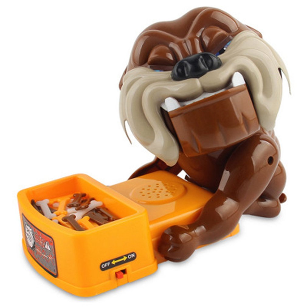 Creative Tricky Novelty Toys Beware Of The Bad Dog Table Games Biting Toys /biting Big Gray Wolves/biting The Tiger Dog
