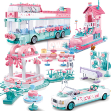 Город Свадебная вечеринка Legoes автомобиль девушка друзья романтическое свадебное платье модель строительные блоки кирпичи принцесса игрушка принца детский подарок