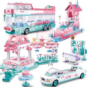 Image 1 - City Wedding Party Car Girl Friends Romantic Wedding Dress Model Building Blocks Bricks Princess Prince Toy Children Gift