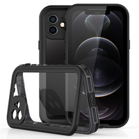 Funda impermeable IP68 para iPhone 12 Pro Max 12 Mini 11 Pro X 10 XR XS Max, protección subacuática transparente, funda de teléfono a prueba de agua
