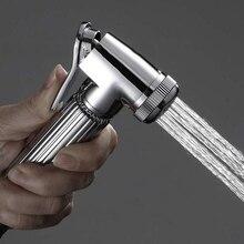 Spray-Head-Bracket Alloy-Bidet-Set Bathroom-Supplies Hose Electroplating Three-Piece
