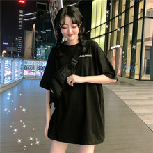 2020 Summer Plus Size Women Tops T Shirt Harajuku Black White Tee Streetwear Korean Style Chemise woman Clothes Ulzzang Shirts(China)