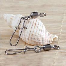 Bearing Swivels Fishing-Accessories Tackle Lure Connector-Pin Snap-Fishhook Stainless-Steel