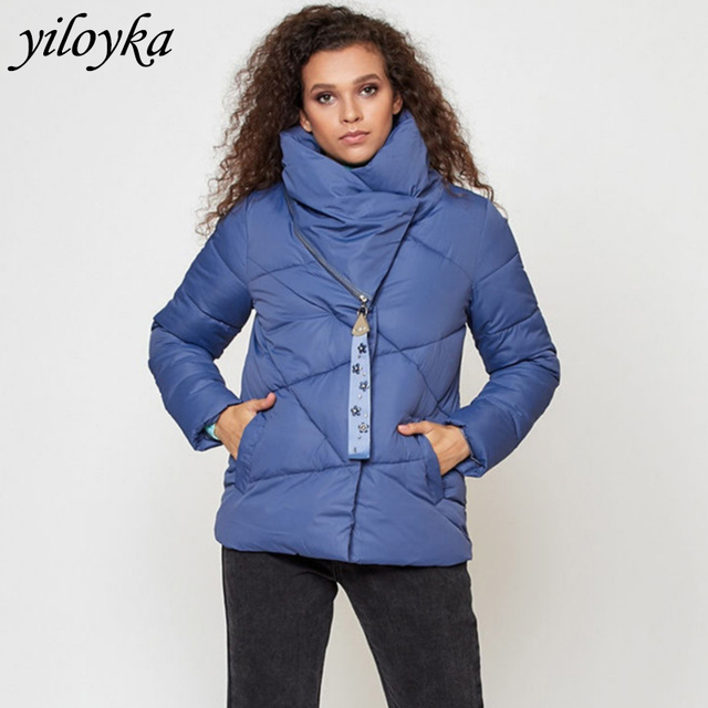 New Casual Parka Winter Women Jacket Thick Warm High Collar Parkas Coat Fashion Long Sleeve winter jackets plus size 5 colors