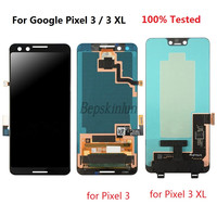Bepskinlun for Google Pixel 3 XL 3XL Original LCD Display Touch Screen Digitizer Replacement With / Without Frame 100% Tested