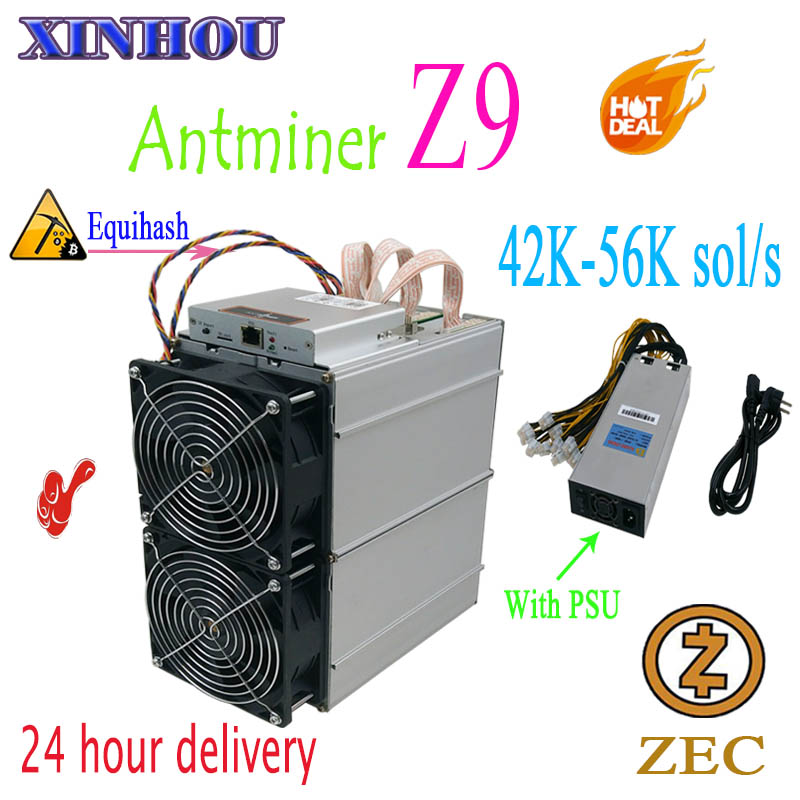 Utilisé Bitmain Antminer Z9 42 k-56 k équihash ASIC mineur minier ZEC mieux que Innosilicon A9 antminer z9mini S17 Z11 S17e M21S T17